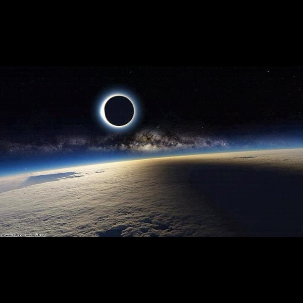 Solar eclipse. Syntropia begins  (Taken with  Instagram  at Planet Earth)
