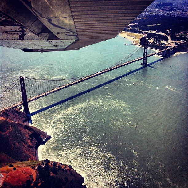 From the air (Taken with Instagram at Golden Gate Bridge)