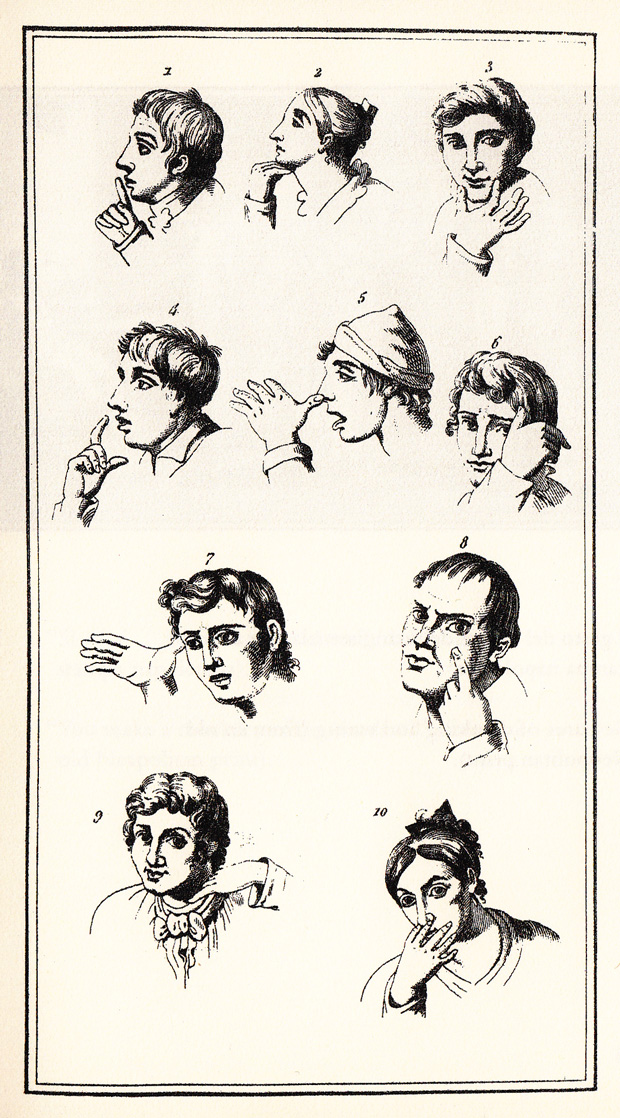 Napolitan gestures: silence, no, beauty, hunger, to mock, weariness, stupid, squint, to deceive, cunning.  (via  The Fine Art of Italian Hand Gestures: A Vintage Visual Dictionary by Bruno Munari | Brain Pickings )