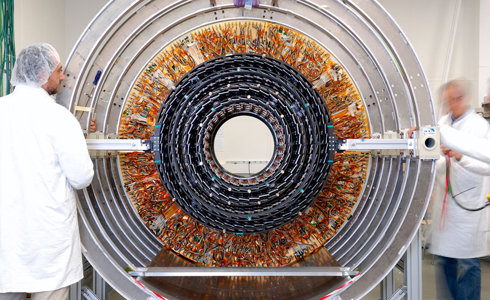 (via  The Fantastic Machine That Found the Higgs Boson - In Focus - The Atlantic )   Fascinating, the machine that found the origin of matter looks nothing more than a Mandala of wires.