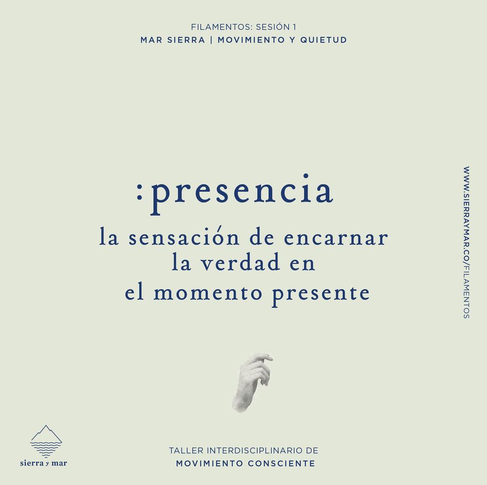 Presencia - Filamentos