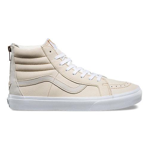 e7f7a6483e0 Vans - Premium Leather SK8-Hi Reissue Zip - White/Sand — Glide Surf ...