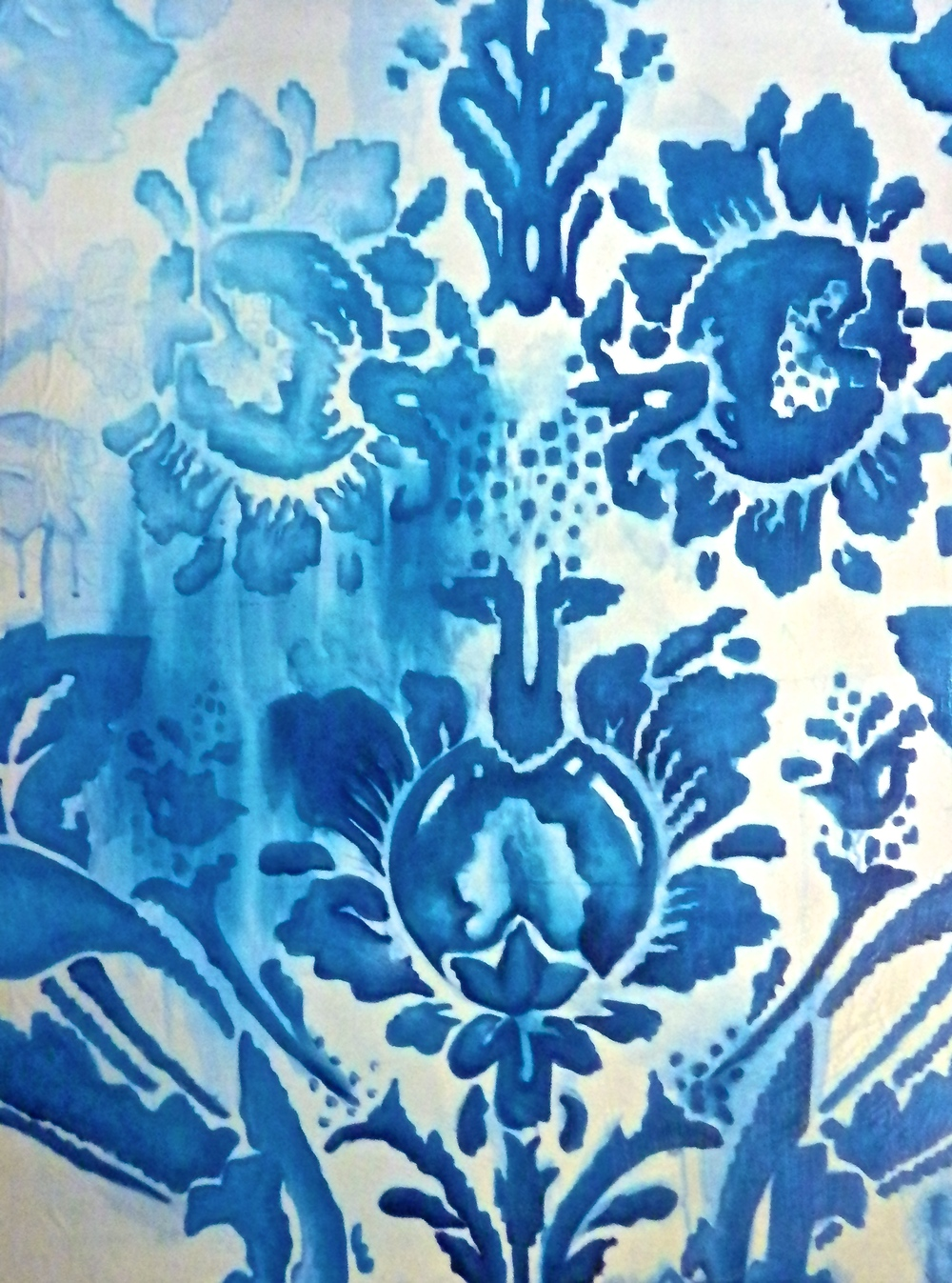 Pixilated Blue Print