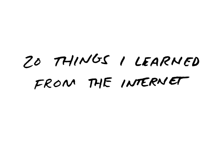 20 Things I Learned front the Internet by Daniel Patrick Simmons