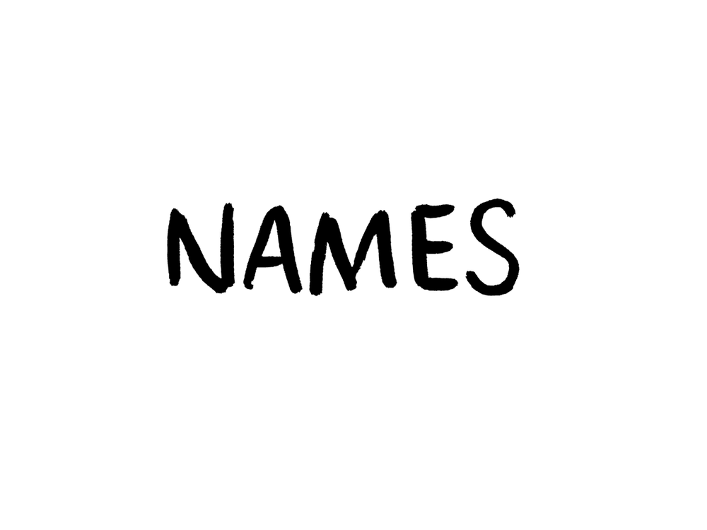 Names by Daniel Patrick Simmons