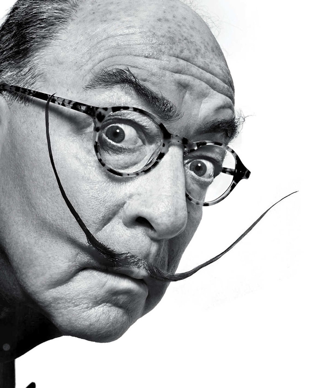 Jerry Saltz,  New York 's art critic, as Salvador Dalí, based on a photograph by Philippe Halsman. Photo: Photo by Marvin Orellana. Photo Illustration by Joe Darrow