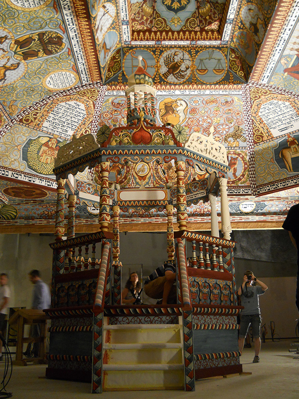 The Bimah under the Gwozdziec ceiling