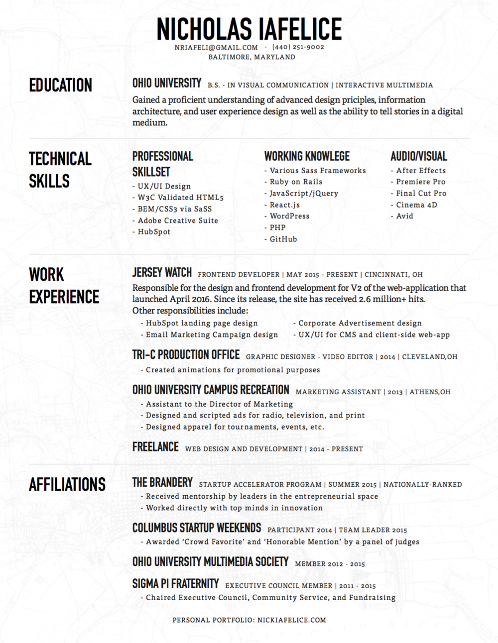 Resume Writing Services Dallas Excel Resume  Nicholas Iafelice Curriculum Vitae Resume Pdf with Resume Builders Pdf Resume Administrative Assistant Duties Resume Pdf