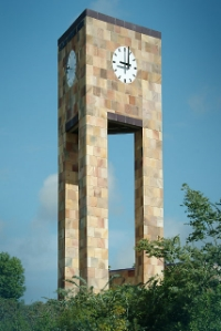 West San Marcos Clock Tower - Clock tower as a gateway element to the city or downtown area