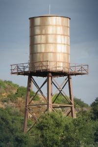 Water tanks or windmills can be appropriate in a rural setting where there are agricultural uses