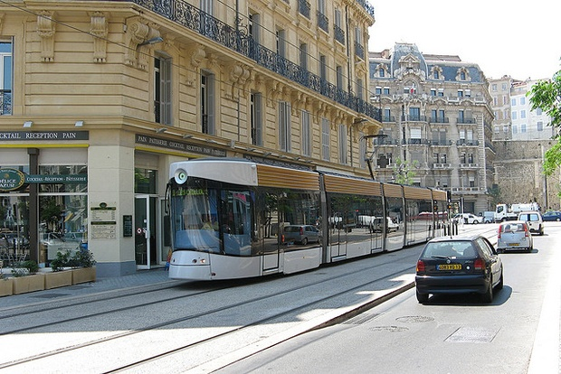 A tram in Marseille, France. ( Mark Turner / Flickr  )