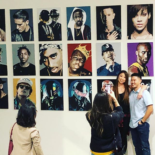 Good vibes all around @jennifer_k_lee's #art on the wall. We're proud of her hard work. #dtla #littletokyo #vision