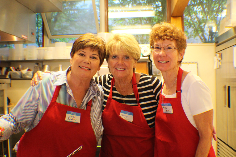 Our Teams: About 300 volunteers help cook, serve and clean up our meals. Click above to see who's involved. Thank you!!!