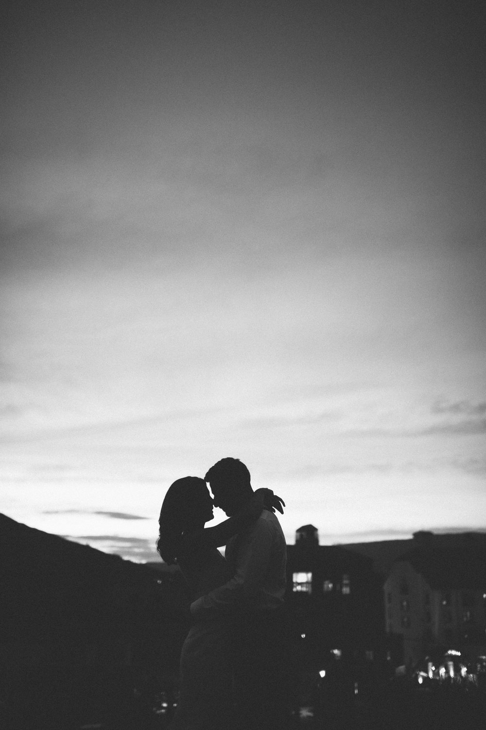 491-beaver-creek--park-hyatt--sunset--wedding--portrait--couple--black-and-white.jpg