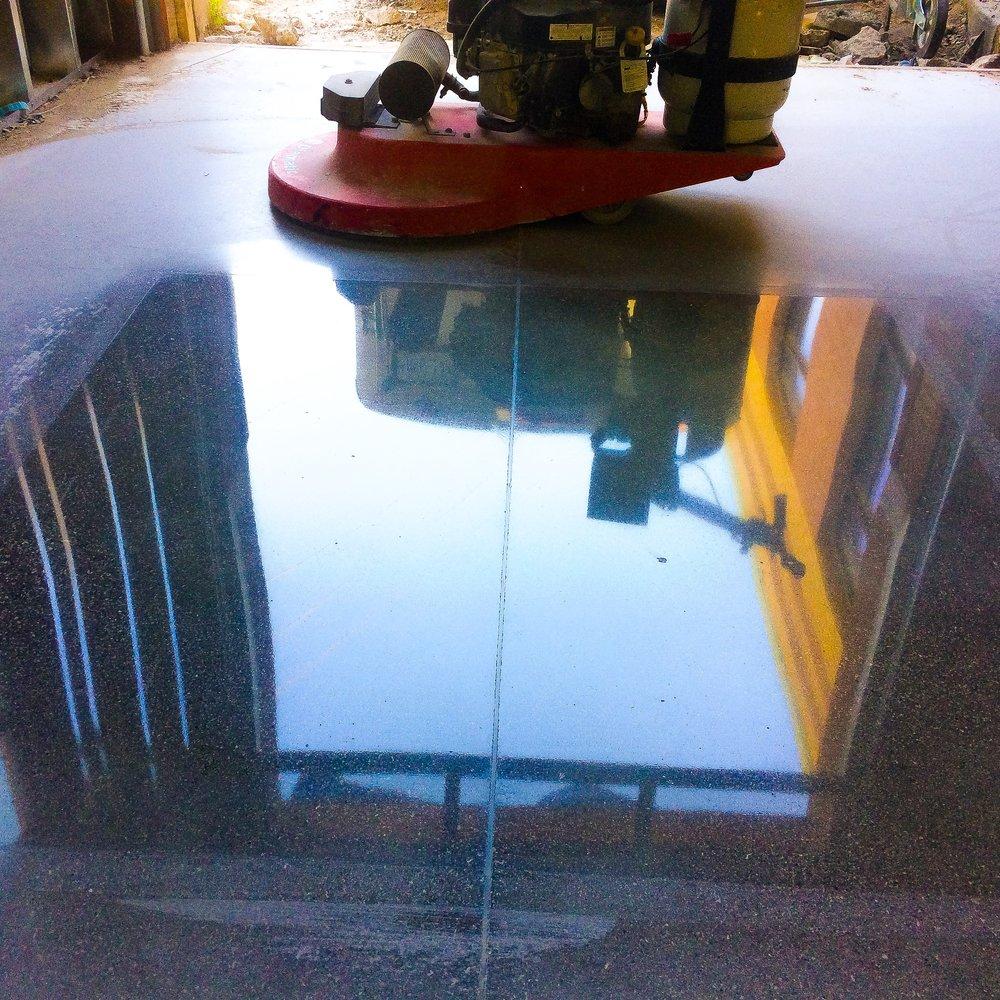 polish concrete