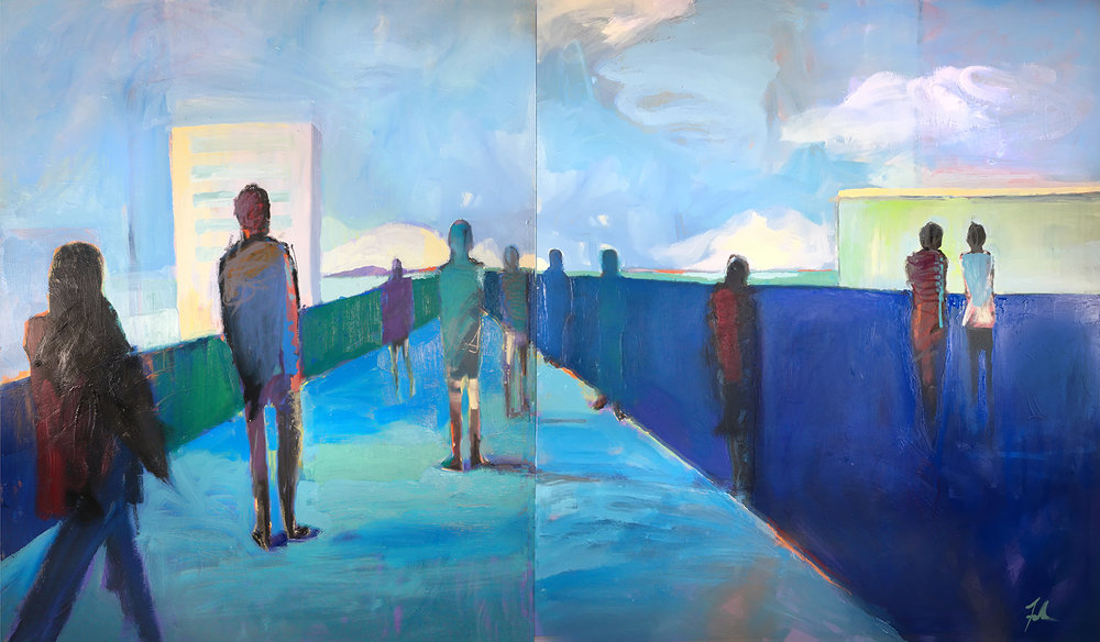 (SOLD) Balcony (diptych)