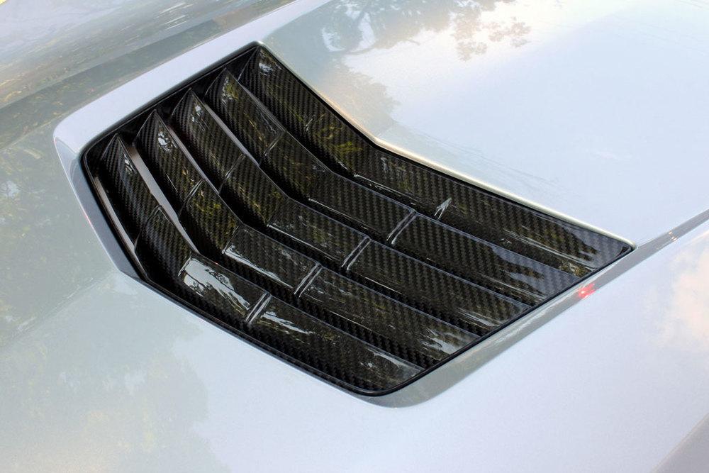 Nowicki Autosport's C7 Stingray carbon fiber hood vent insert