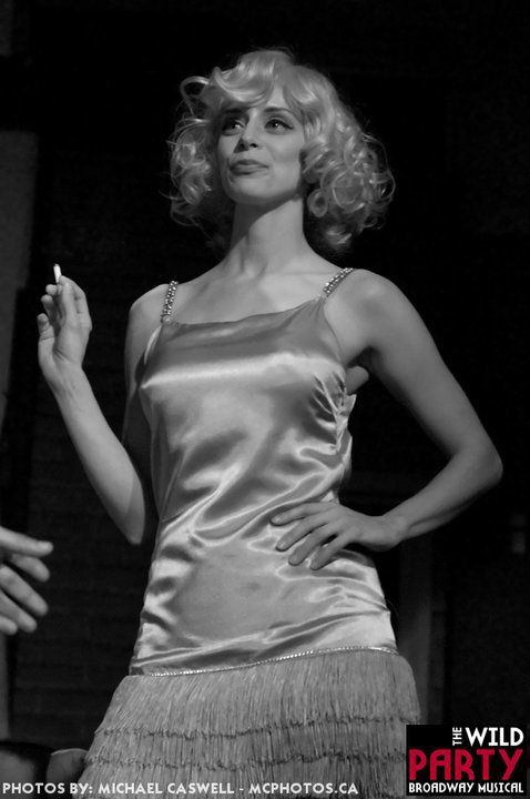 "Queenie in ""The Wild Party"" (Pint Size Tall Productions)  *Photo by Michael Caswell"