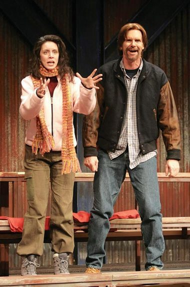 "Donna & Teddy (Jackson Davies) in ""Hockey Mom, Hockey Dad"" (Arts Club Theatre)  *Photo by Tim Matheson"