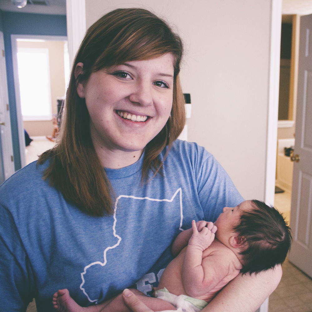 Only a week old! Smallest baby I've ever held! :-)