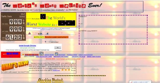 Literally, the world's worst website.