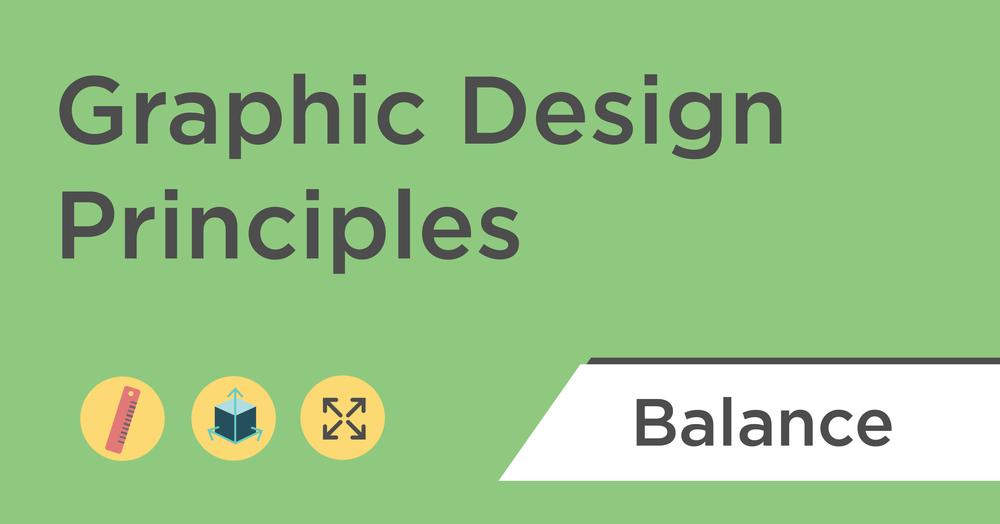 graphic design principles balance