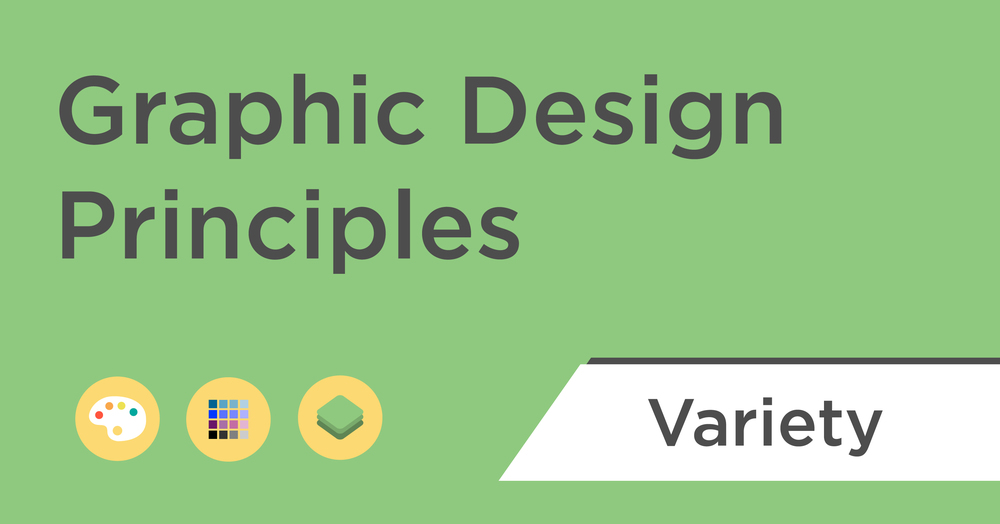 graphic design principles variety