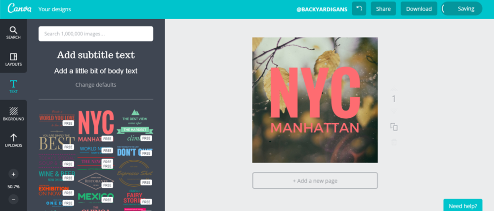 canva for instagram graphics