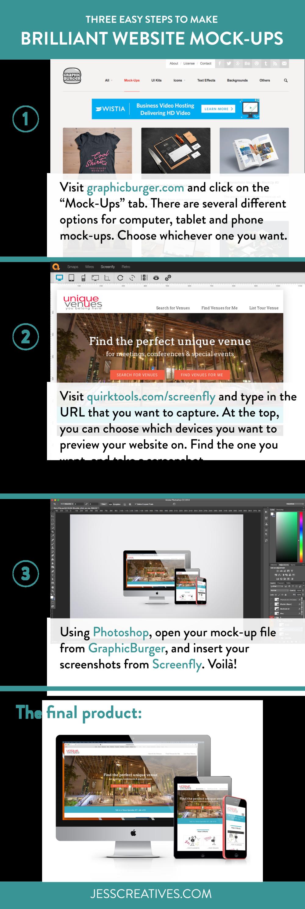 Three easy steps to brilliant website mock-ups