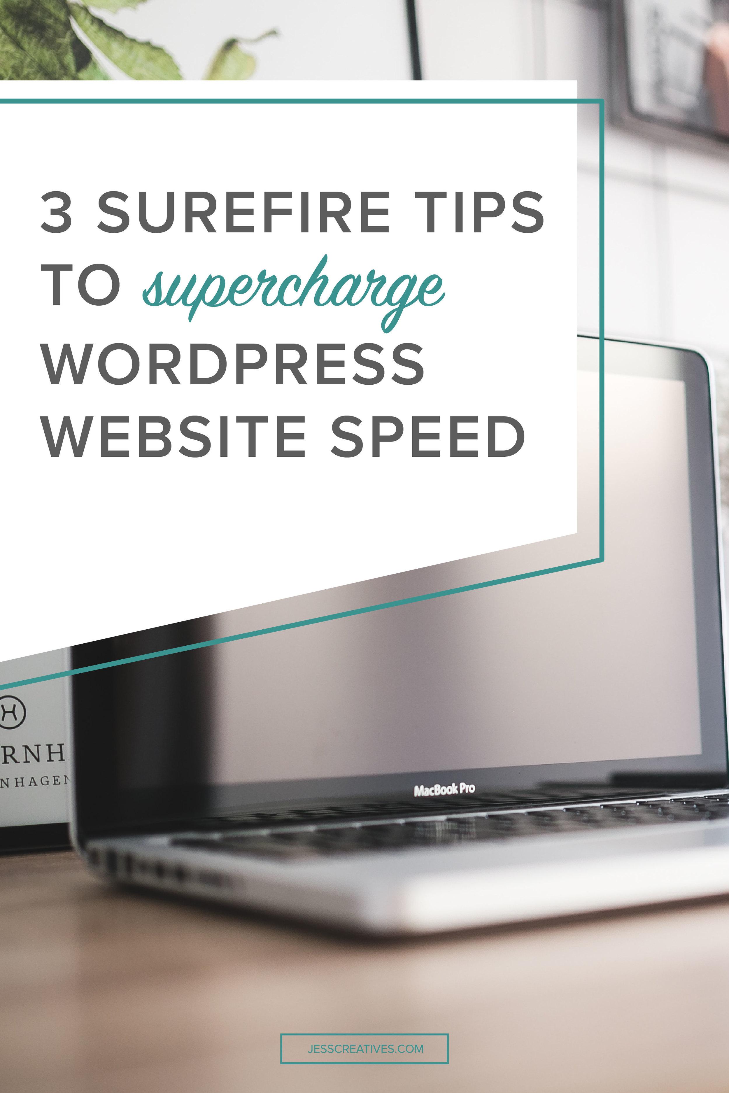 3 surefire tips to supercharge WordPress website speed