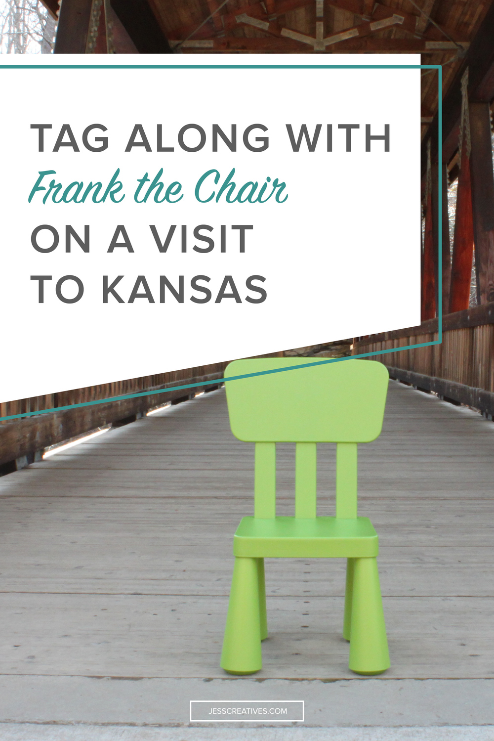 "Get your copy of ""Frank the Chair Visits Kansas"" on Amazon!"