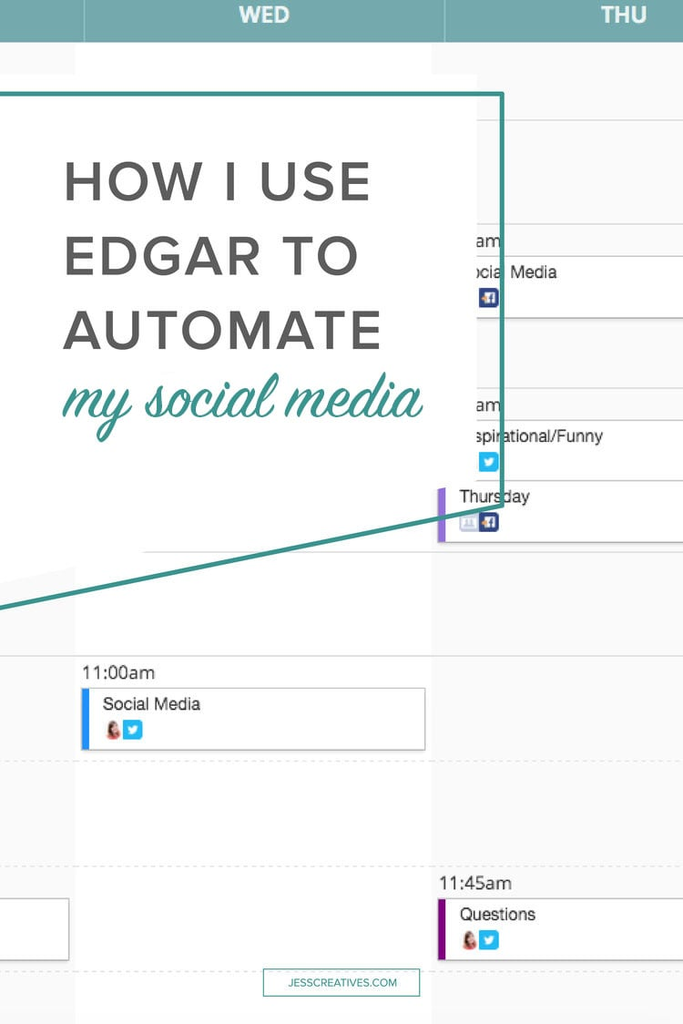 """What is Edgar? From their website, """"Edgar is a social media scheduling tool that builds a library of every update a user uploads, so they can share them again and again over time. The app pulls updates from that library to  fill the user's queue."""""""