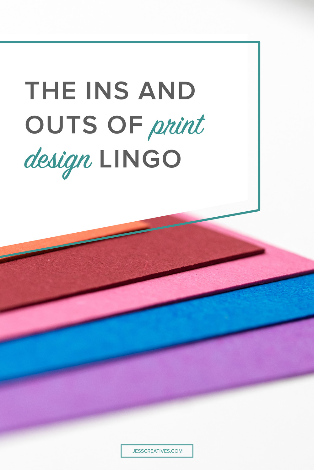 The ins and outs of print design lingo