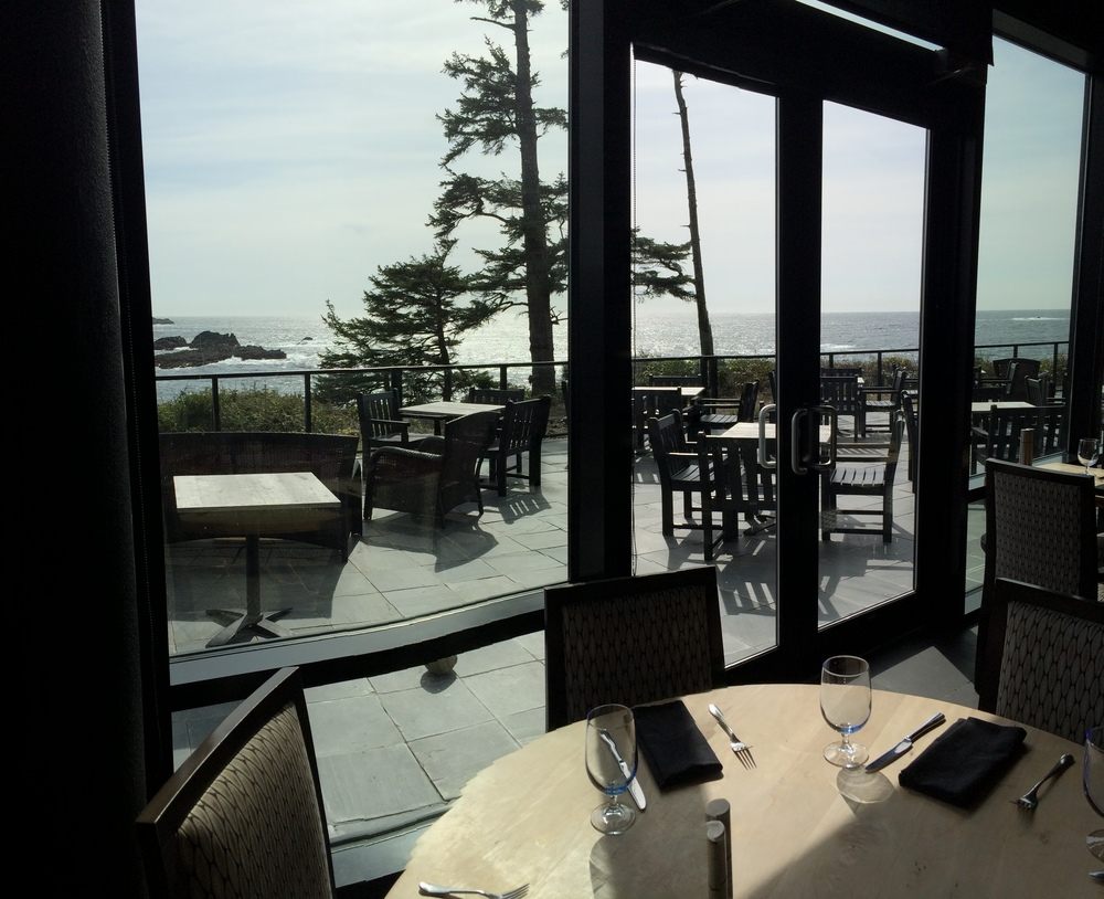 Patio at the Black Rock Lodge in Ucluelet.