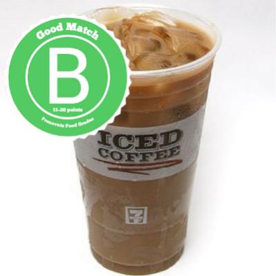 #2 7-11 Hazelnut-flavored Iced Coffee (No Cream)