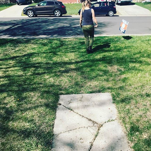 Where the sidewalk ends. #househunting #roalddahl