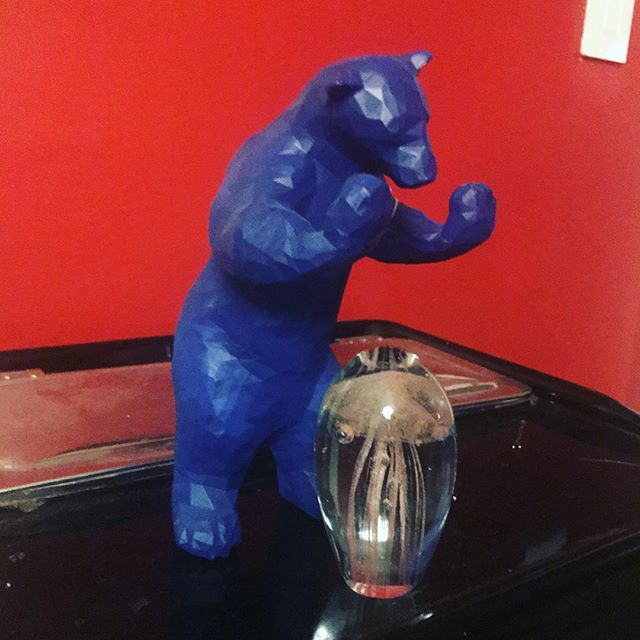 Don't be jelly of my jellyfish, blue bear, you both have new homes with me! My clients are the best listeners! I have always wanted both of these things! #thankyougifts #ilovewhatido #iheartdenverhomes