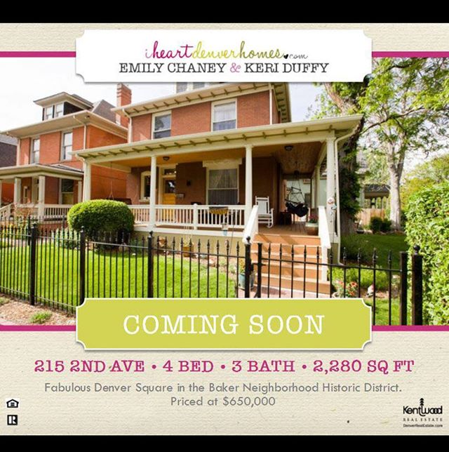 Coming Soon: Historic Baker Denver Square $650K 4 🛏 3 🛀  Open House 2-4 this Sat and Sun  #historicbaker #denversquare #wraparoundporch #iheartdenverhomes #wearedenver #movetodenver #buyrealestate #airbnb