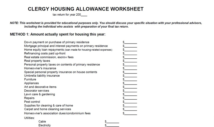 Youth Ministry JeremyCoggins – Allowance Worksheet