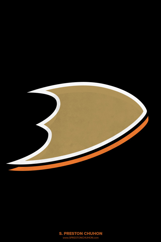 Minimalist Anaheim Ducks iPhone4 - 640x960 iPhone5 - 640x1136