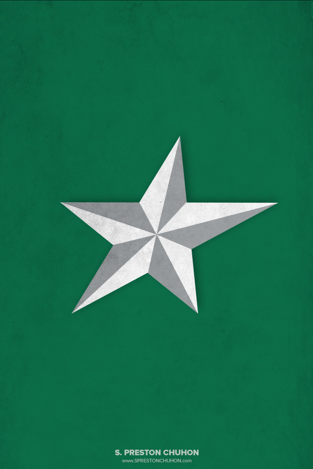Minimalist Dallas Stars iPhone4 - 640x960 iPhone5 - 640x1136