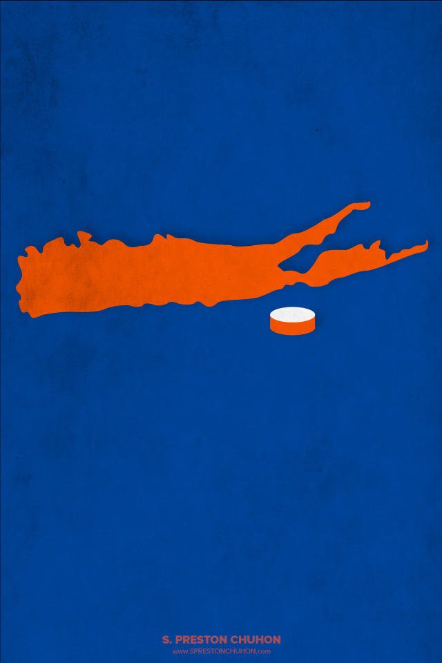 Minimalist New York Islanders iPhone4 - 640x960 iPhone5 - 640x1136