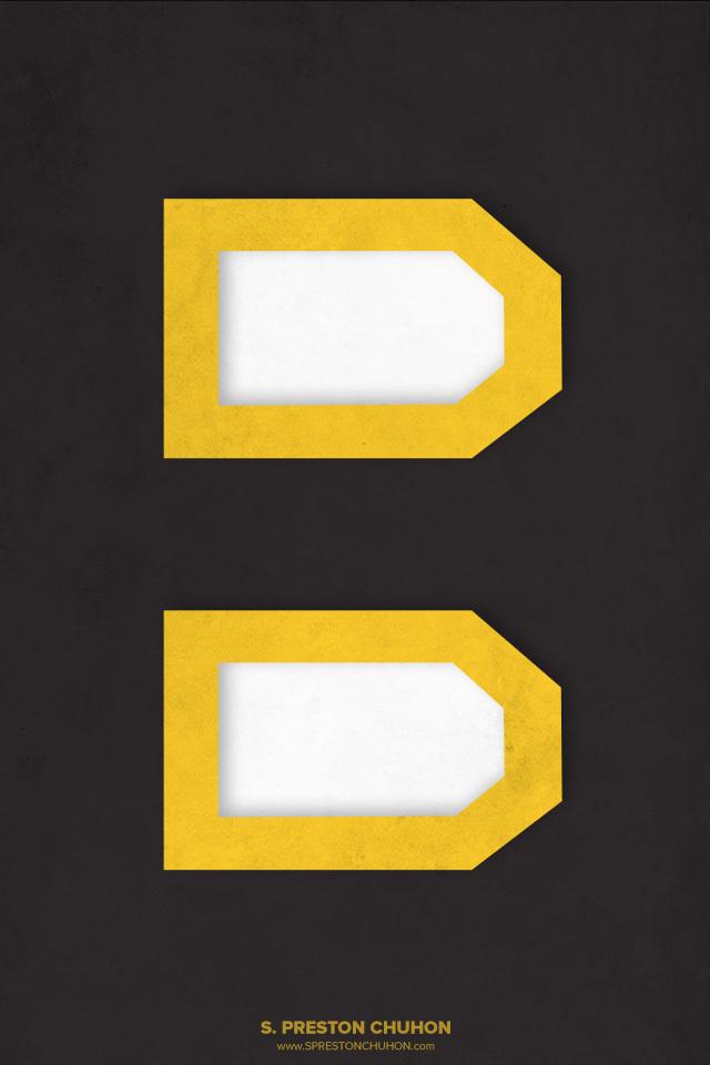 Minimalist Boston Bruins iPhone4 - 640x960 iPhone5 - 640x1136
