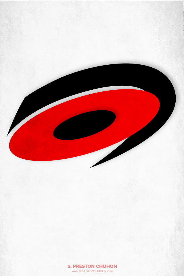 Minimalist Carolina Hurricanes iPhone4 - 640x960 iPhone5 - 640x1136