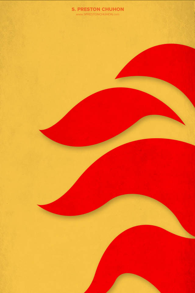 Minimalist Calgary Flames iPhone4 - 640x960 iPhone5 - 640x1136