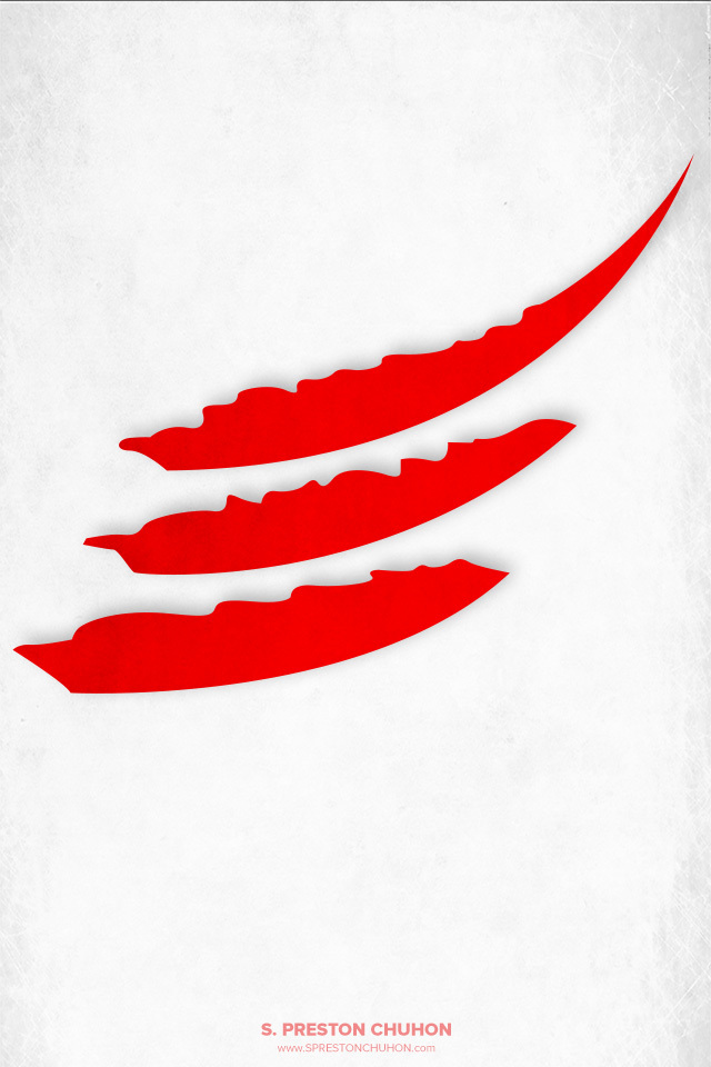 Minimalist Detroit Red Wings iPhone4 - 640x960 iPhone5 - 640x1136