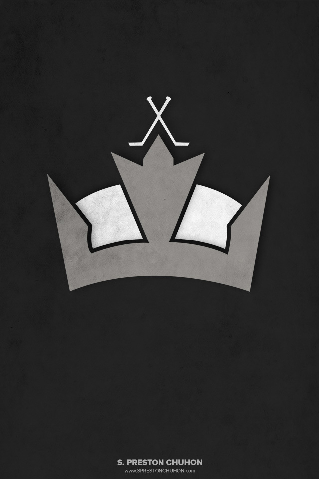 Minimalist Los Angeles Kings iPhone4 - 640x960 iPhone5 - 640x1136