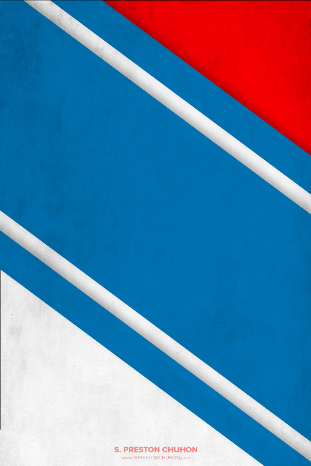 Minimalist New York Rangers iPhone4 - 640x960 iPhone5 - 640x1136