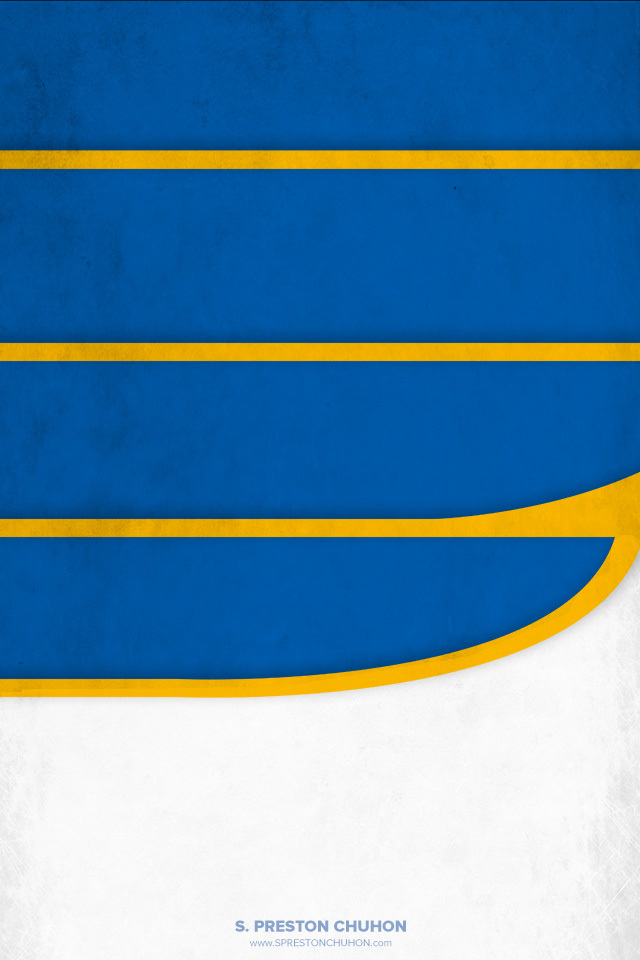 Minimalist St. Louis Blues iPhone4 - 640x960 iPhone5 - 640x1136