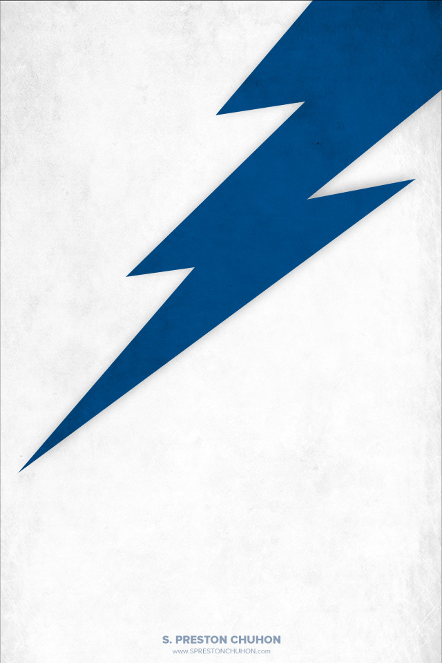 Minimalist Tampa Bay Lightning iPhone4 - 640x960 iPhone5 - 640x1136
